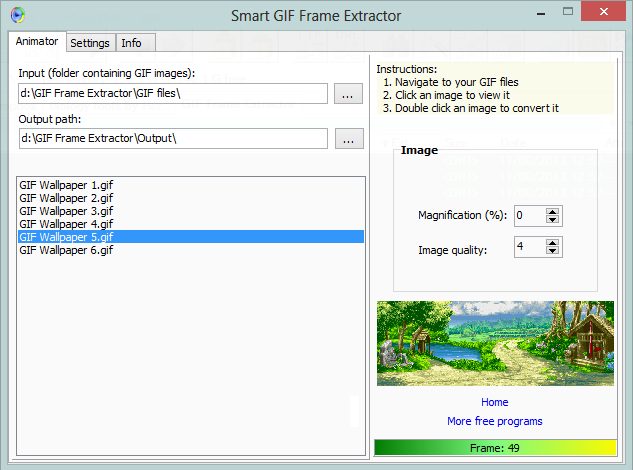 Automatically extract frames from gif files with gif frame extractor gif frame extractor screenshot negle Images