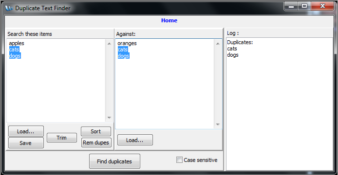 Duplicate Text Finder and Remover 2.0 Screen shot
